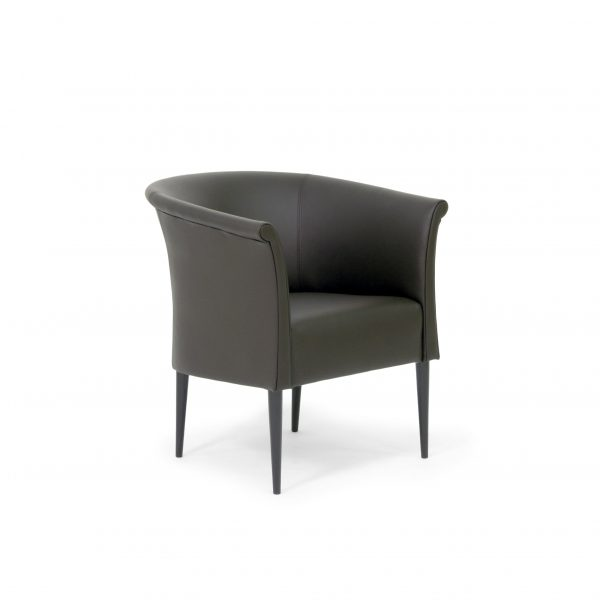 Cicci by Norell Furniture in black leather. Design by Marie Norell-Möller