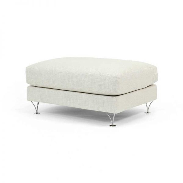 Deep and Soft white foot stool design Norell Furniture