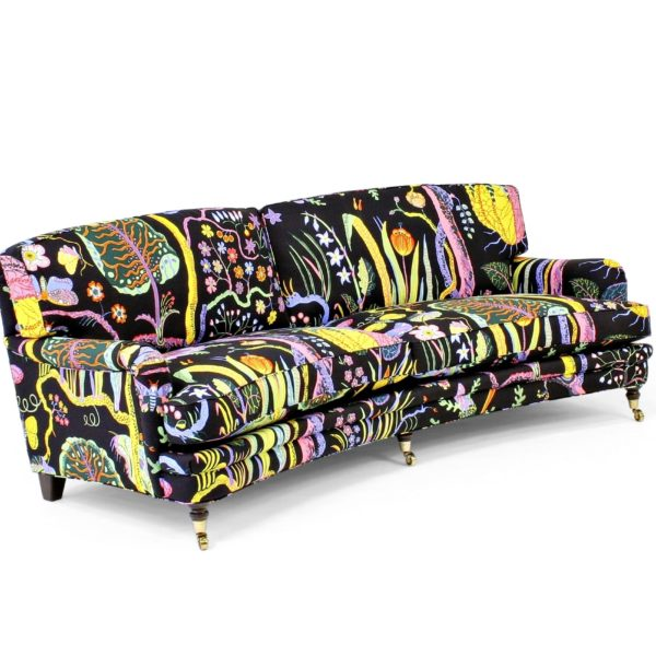 Romeo & Julia sofa, design Norell Furniture in Sweden, fabric by Josef Frank