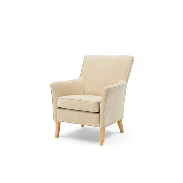 Leonardo beige armchair, design Norell Furniture in Sweden.