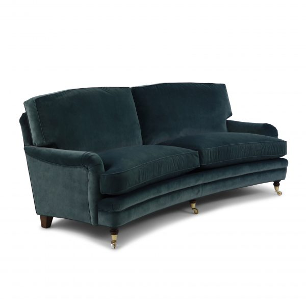 Curved 'Romeo' sofa by Norell Furniture. Fabric 'Icon' from United Fabrics.