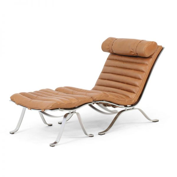 Ari chair design Arne Norell light brown leather