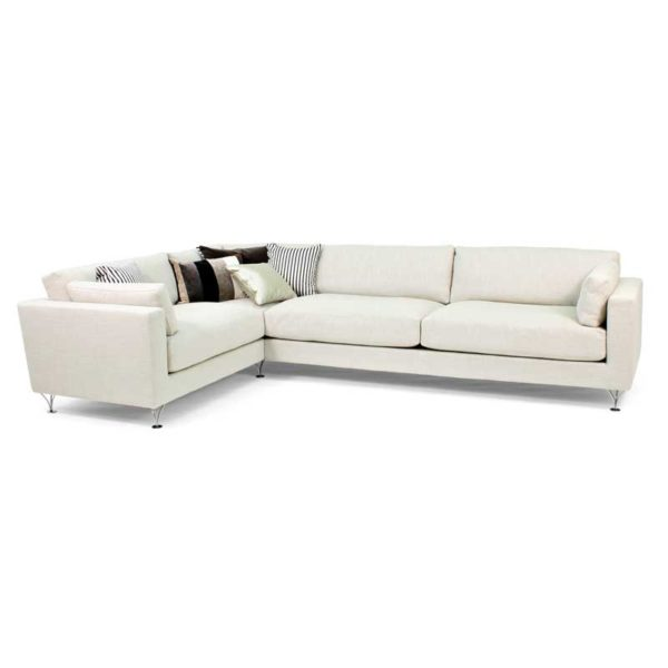 Deep and Soft white sofa couch design Norell Furniture