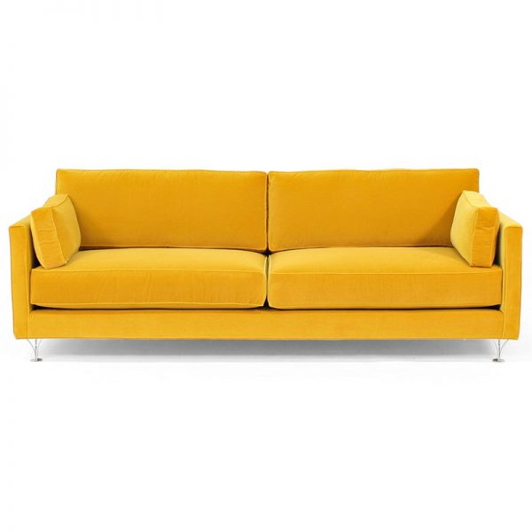 Deep and Soft yellow sofa couch design Norell Furniture