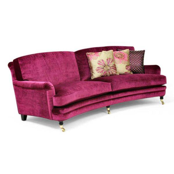 Romeo & Julia, purple howard sofa, design Norell Furniture Sweden