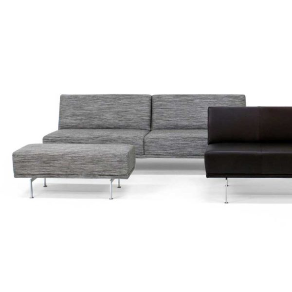 Look grey sofa and footstool, design Ulla Christiansson for Norell Furniture