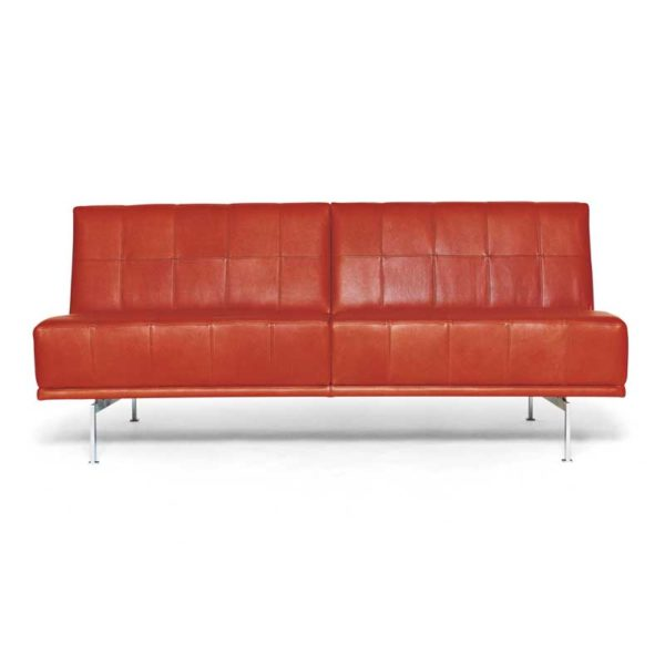 Look sofa, orange leather, Norell Furniture Sweden