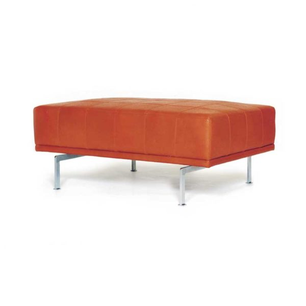 Look orange footstool, Norell Furniture Sweden