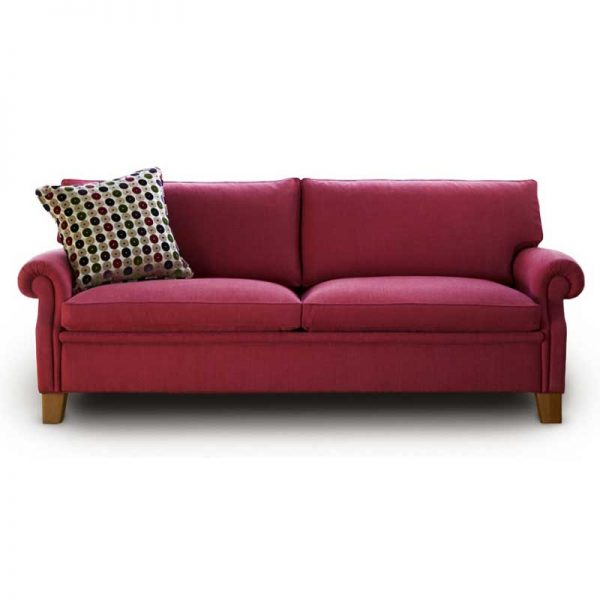 Plaza red sofa by Norell Furniture