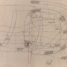 Arne Norell's drawing of his armchair
