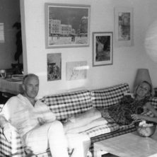 Furniture designer Arne Norell together with his wife Britta Norell