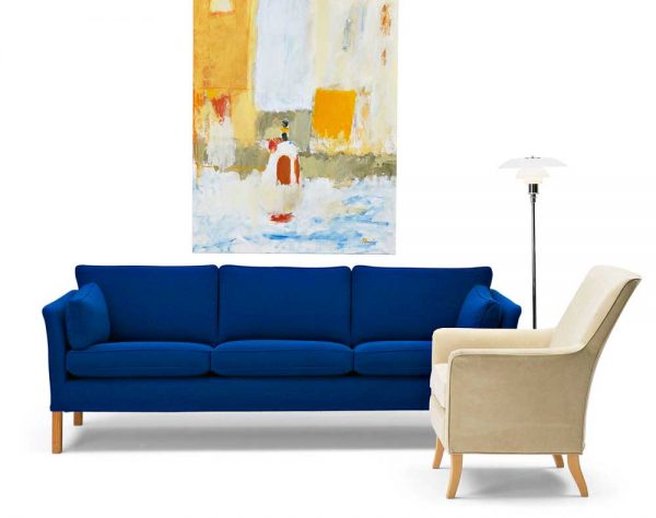 Cromwell blue sofa by Norell Furniture in Sweden