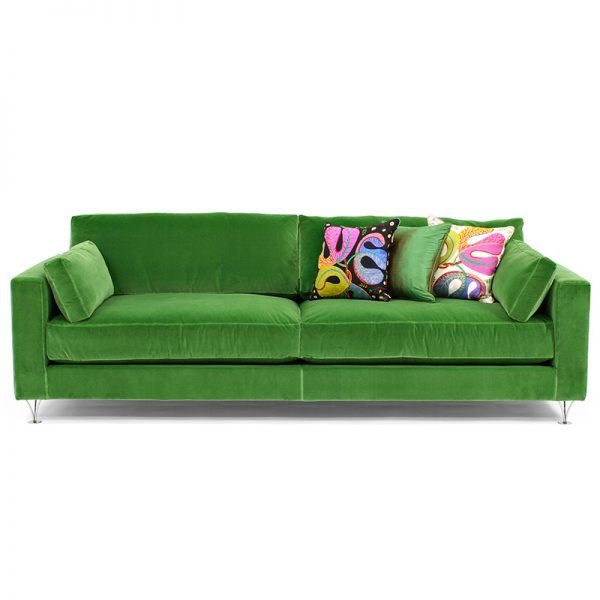 Deep and Soft green sofa couch design Norell Furniture