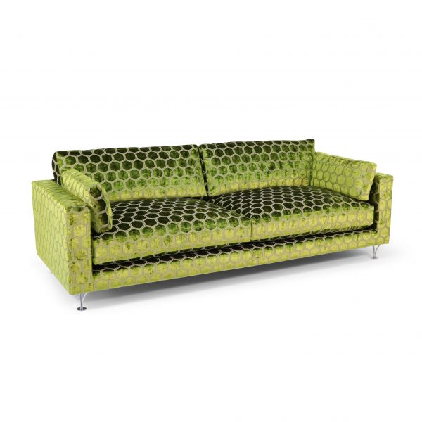 Deep sofa by Norell. Fabric 'Manipur' from Designers Guild