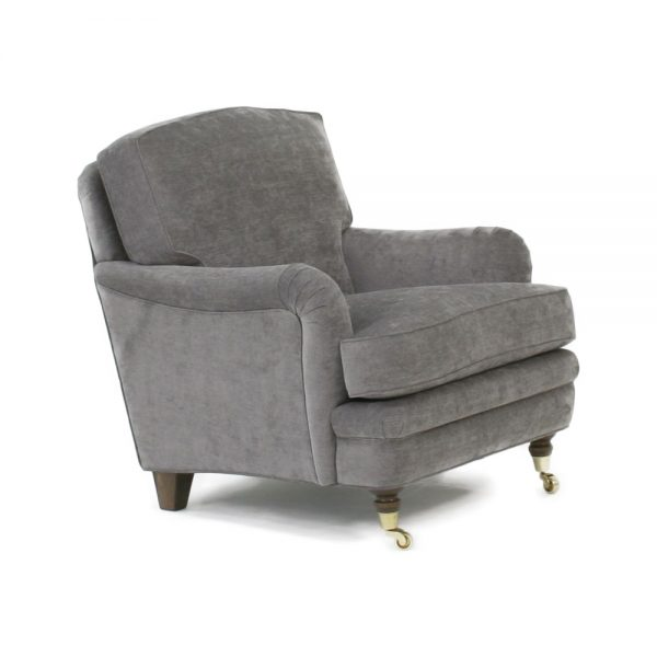 Romeo armchair low back. With removable back cushion. Handmade by Norell furniture.