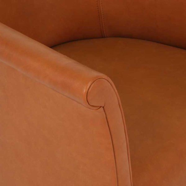 Cicci brown leather chair, Norell Furniture Sweden