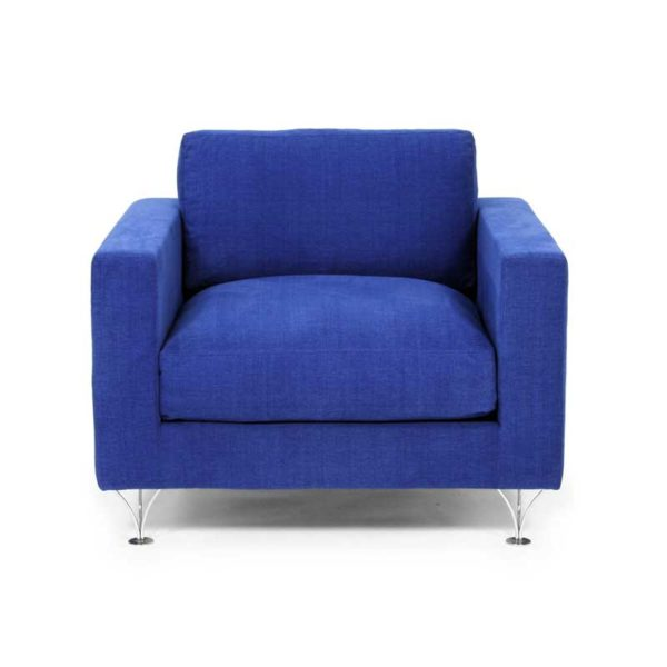 Deep and Soft blue chair and armchair design Norell Furniture
