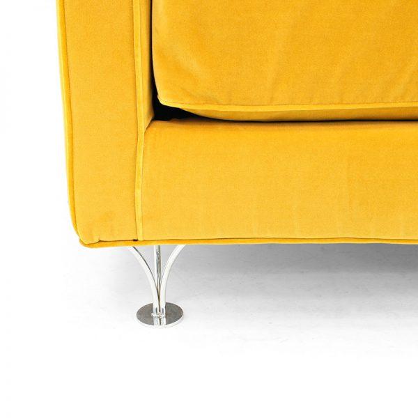 Deep & Soft chromium-plated legs, Norell Furniture