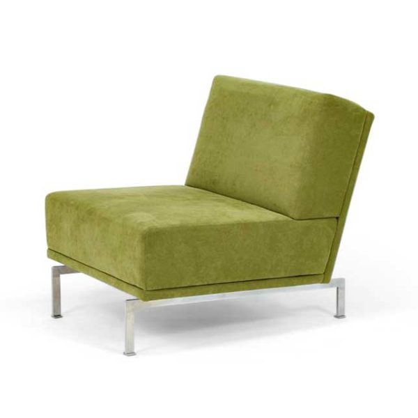 Look chair, green suede, Norell Furniture Sweden