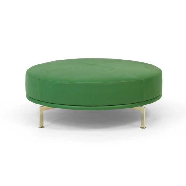 Look footstool, green leather, Norell Furniture Sweden