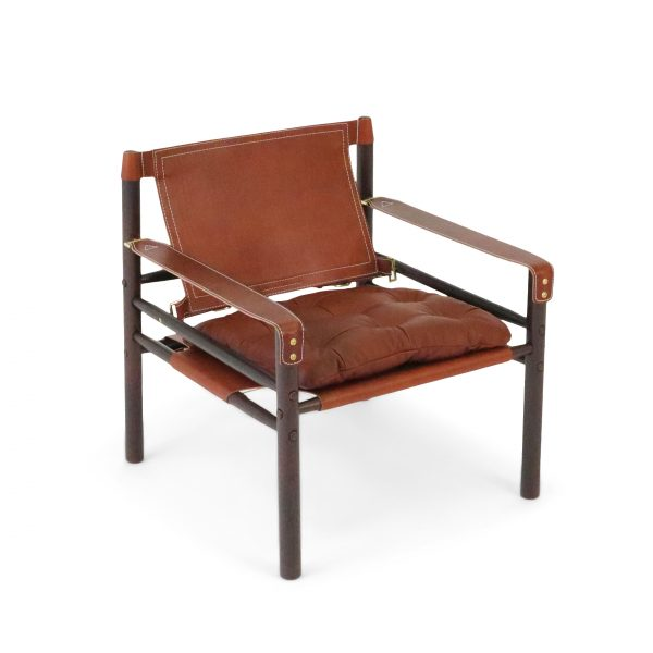 Sirocco by Norell Furniture in medium brown leather and rosewood-stained ash. Design: Arne Norell 1964